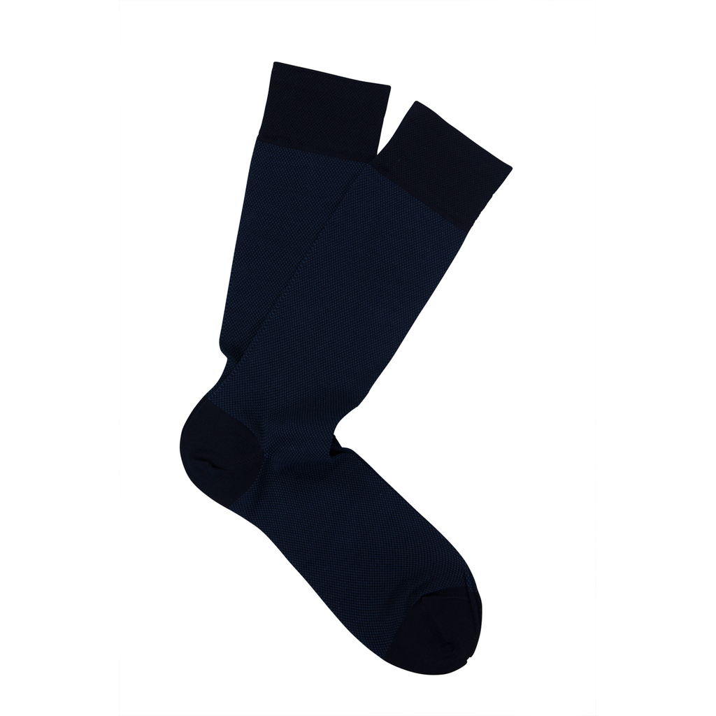 Navy Birdseye Pima Cotton Socks - Sydney's, Toronto, Bespoke Suit, Made-to-Measure, Custom Suit,