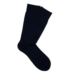 Navy Pima Cotton Socks
