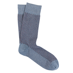 Light Grey & Orange Micro Diamond Pima Cotton Socks