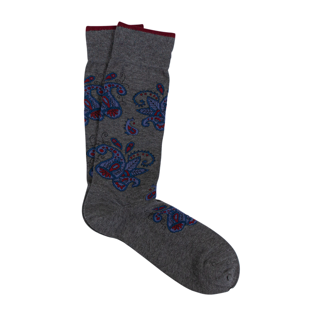 Paisley Pima Cotton Socks - Sydney's, Toronto, Bespoke Suit, Made-to-Measure, Custom Suit,