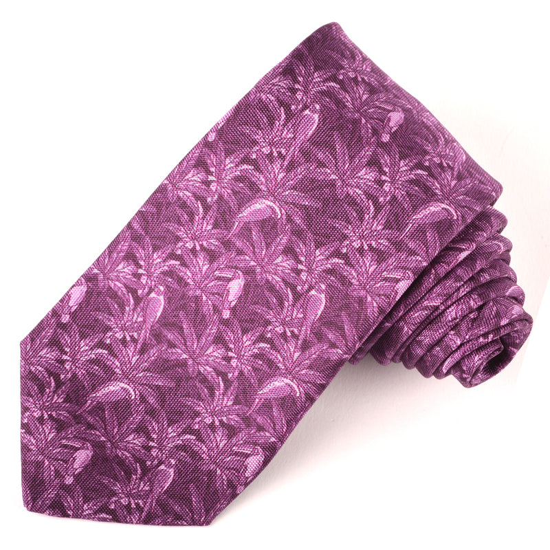 Berry Printed Panama Silk Tie - Sydney's, Toronto, Bespoke Suit, Made-to-Measure, Custom Suit,