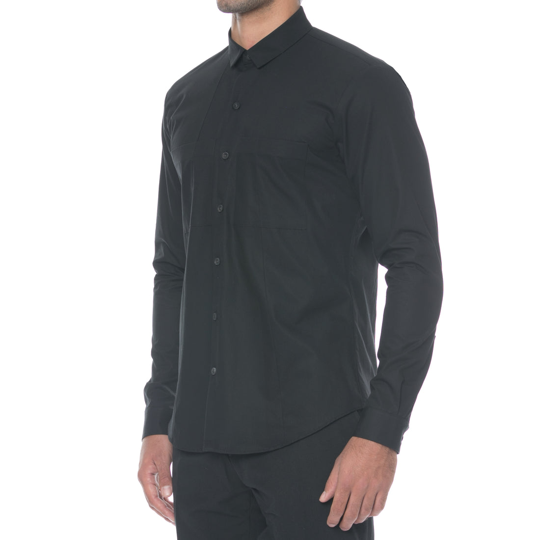 Flight Black Button Down Shirt