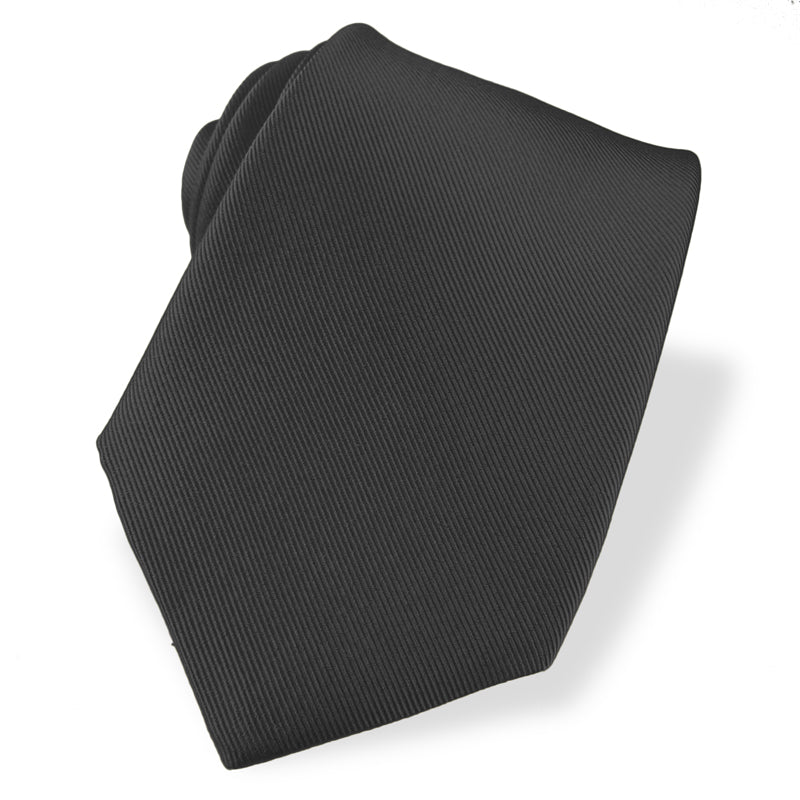 Steel Grey Silk Grosgrain Tie - Sydney's, Toronto, Bespoke Suit, Made-to-Measure, Custom Suit,