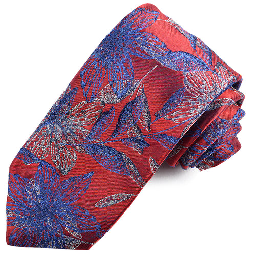 Red Japanese Jacquard Silk Tie