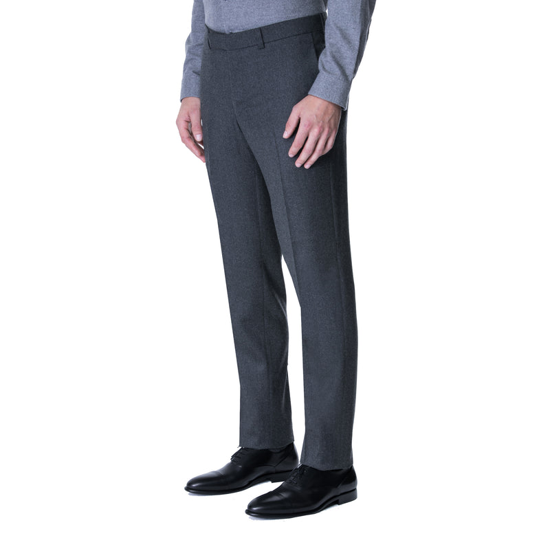 Charcoal Technical Wool Trouser - Sydney's, Toronto, Bespoke Suit, Made-to-Measure, Custom Suit,