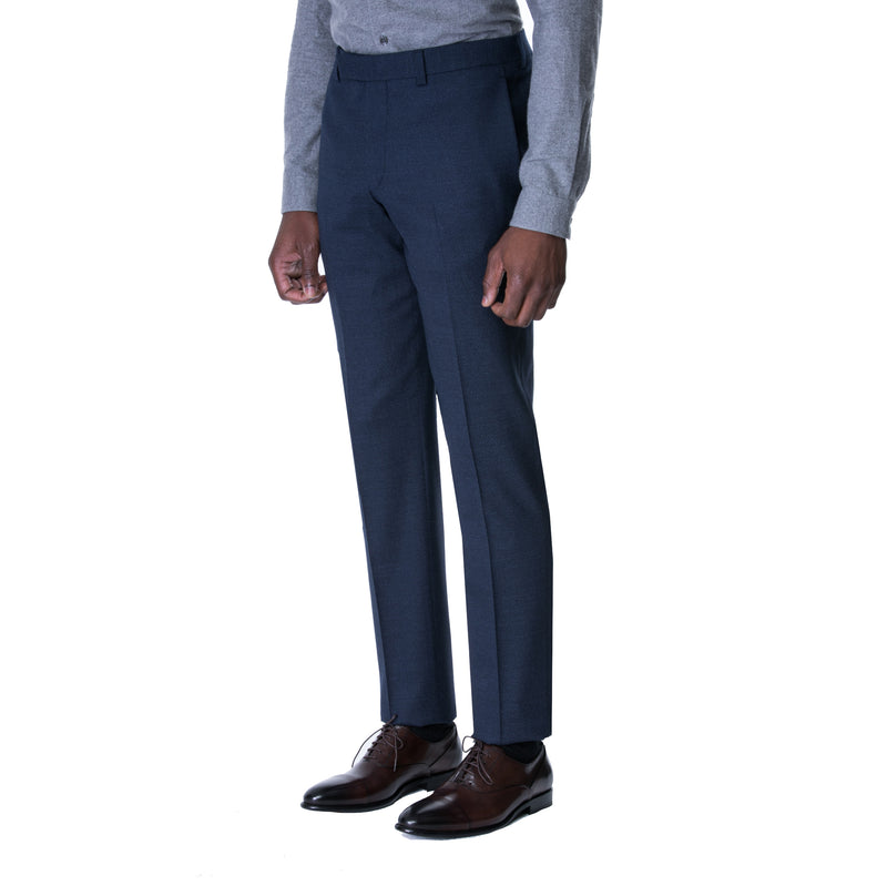Navy Diamond Jacquard Trouser