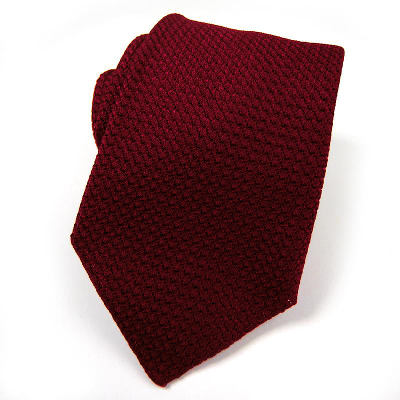 Bordeaux Silk Grenadine Tie - Sydney's, Toronto, Bespoke Suit, Made-to-Measure, Custom Suit,