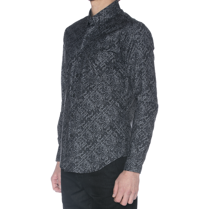 Charcoal Digital Camo Long Sleeve Shirt