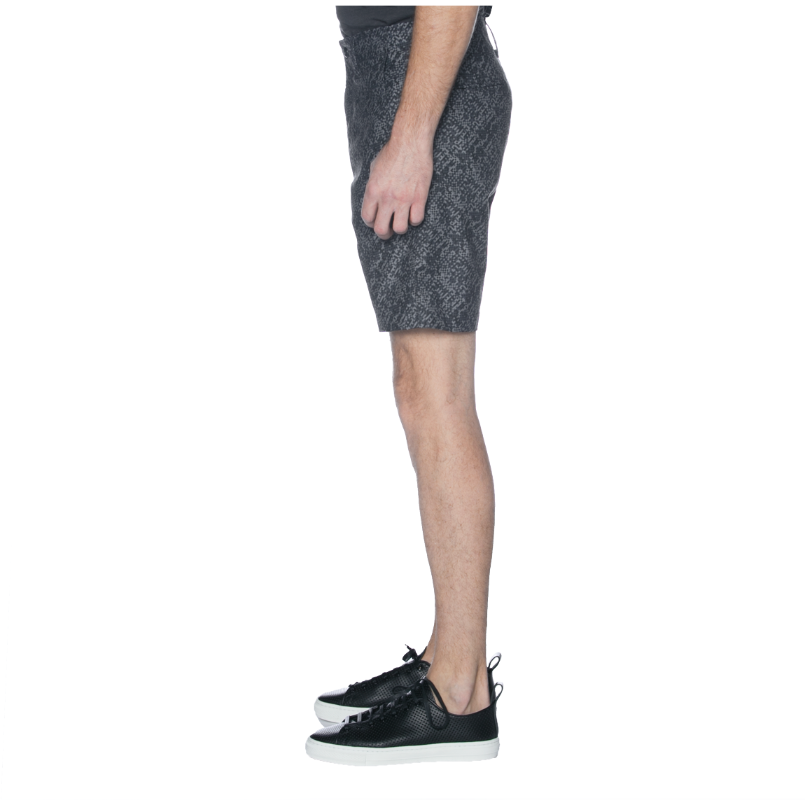United Stock Dry Goods Charcoal Digital Camo Print Chino Shorts