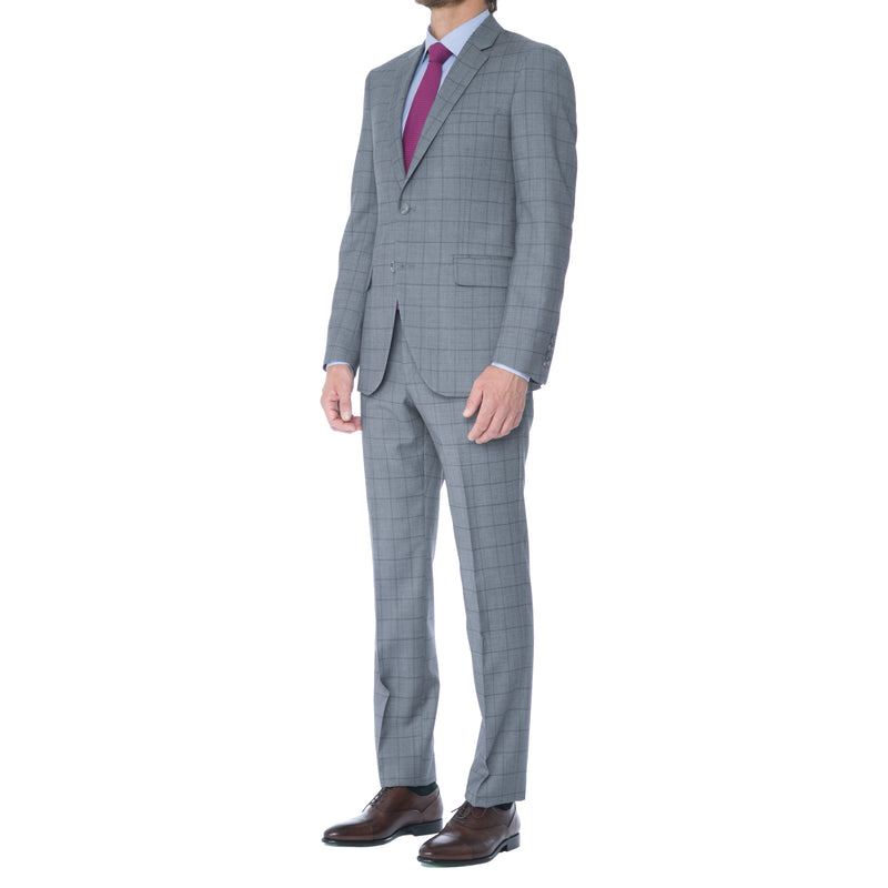 Grey Windowpane Suit - Sydney's, Toronto, Bespoke Suit, Made-to-Measure, Custom Suit,