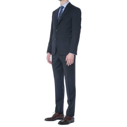 French Navy Two Button Suit