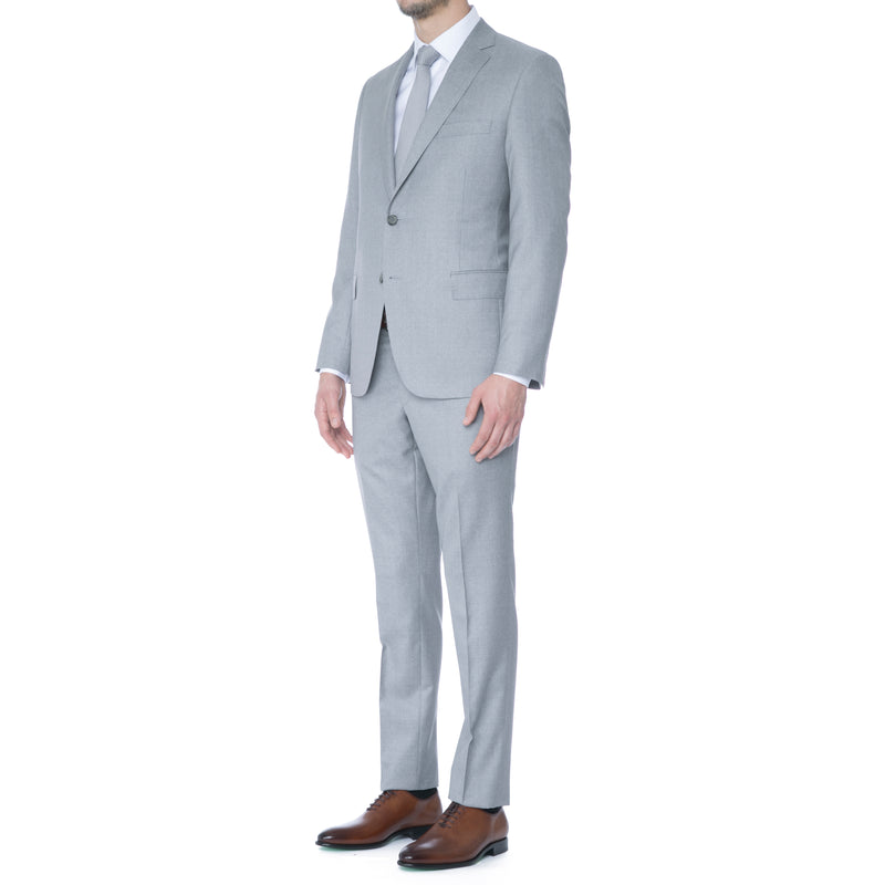 Arctic Grey Ice Wool Suit - Sydney's, Toronto, Bespoke Suit, Made-to-Measure, Custom Suit,
