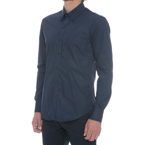 White Windowpane Ripstop Long Sleeve Shirt