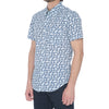 White Digi Dot Short Sleeve Shirt