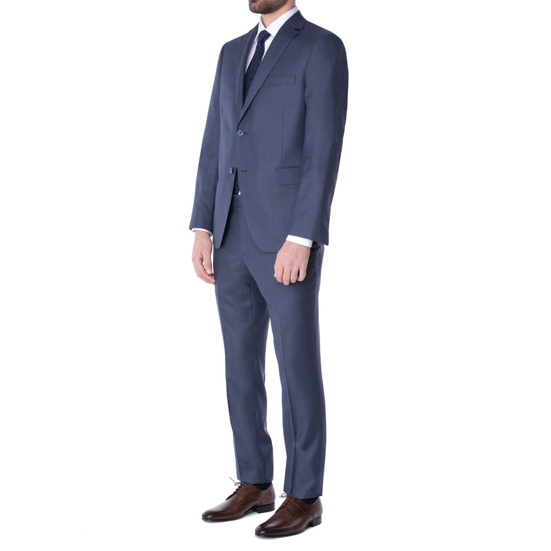 Blue Smoke Nailhead Suit - Sydney's, Toronto, Bespoke Suit, Made-to-Measure, Custom Suit,