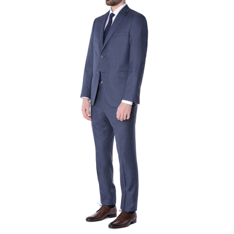Brown/Navy Neat Suit