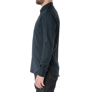 Navy Long Sleeve Shirt - Sydney's, Toronto, Bespoke Suit, Made-to-Measure, Custom Suit,