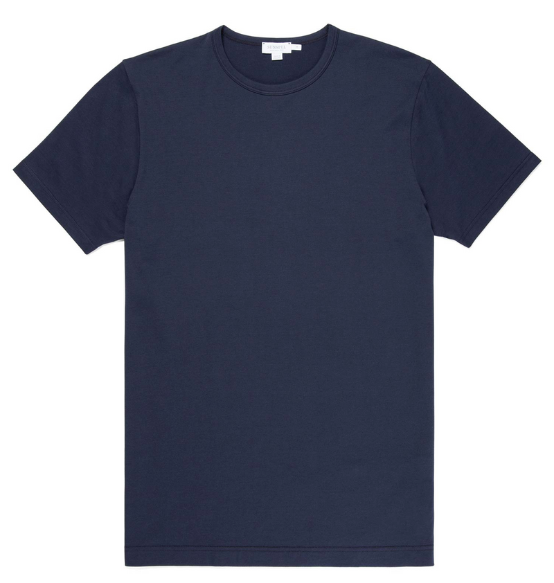Classic Crew Neck T-Shirt, Navy