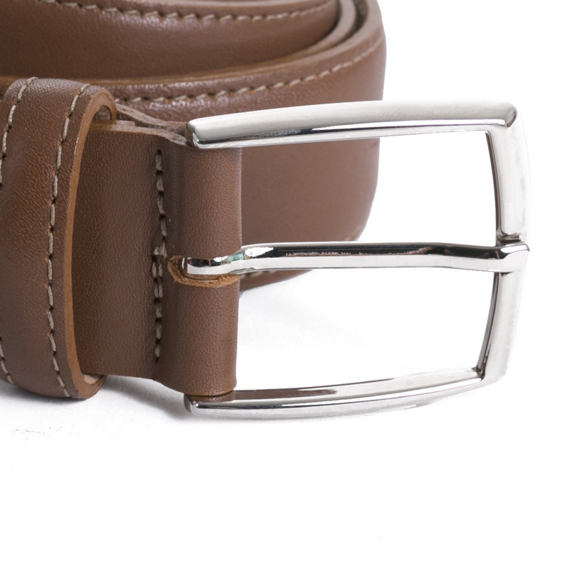 Chili Leather Edge Stitch Belt - Sydney's, Toronto, Bespoke Suit, Made-to-Measure, Custom Suit,