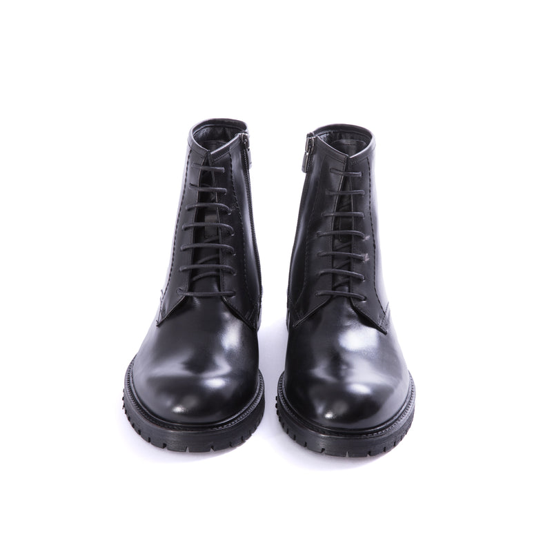 Black Sheepskin Lined Combat Boots - Sydney's, Toronto, Bespoke Suit, Made-to-Measure, Custom Suit,