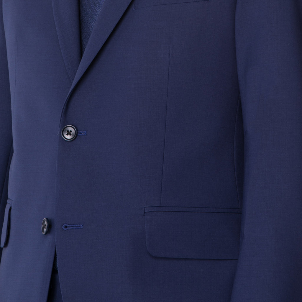 Royal Indigo Technical Wool Suit - Sydney's, Toronto, Bespoke Suit, Made-to-Measure, Custom Suit,