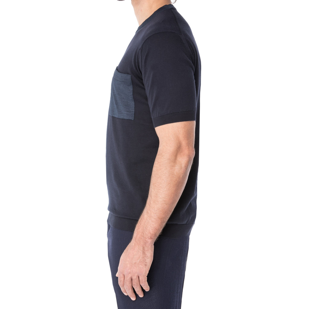 Midnight Sea Island Cotton T-Shirt - Sydney's, Toronto, Bespoke Suit, Made-to-Measure, Custom Suit,