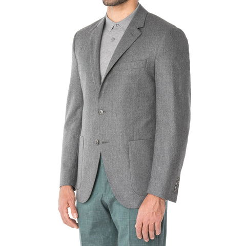 Chalk Herringbone Piquet Jersey Jacket