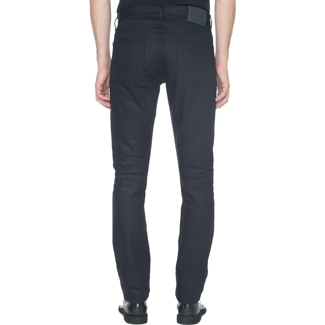 United Stock Dry Goods Navy Slight Fit Selvage Jeans