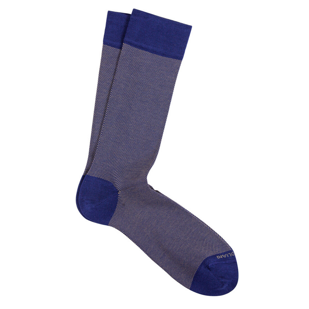 Indigo Birdseye Pima Cotton Socks