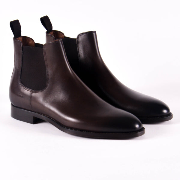 Made In Italy Leather Chelsea Boot, Burnished Caffe