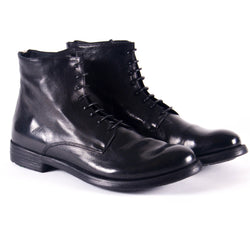 Black Hive Leather Lace-up Boots
