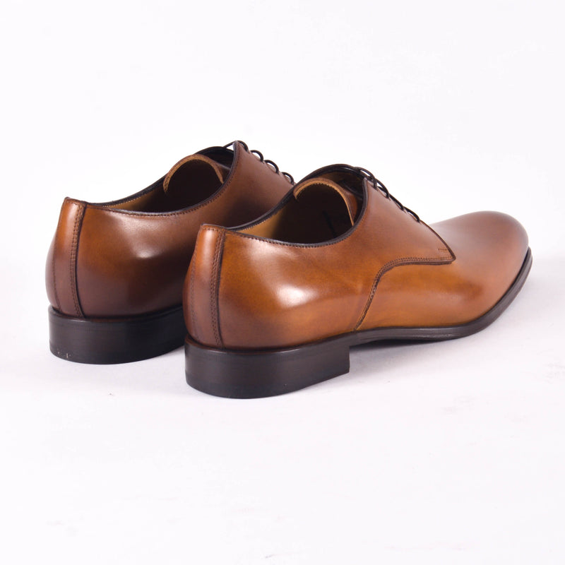 Made In Italy Leather Derby Shoes