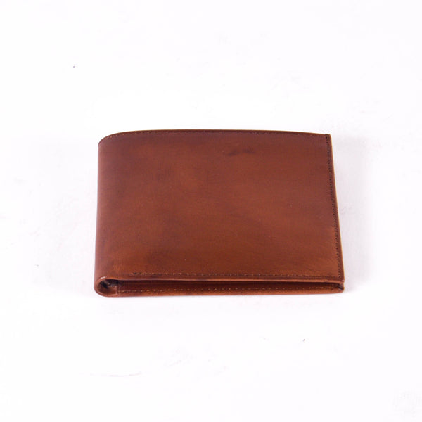 Leather Bi-Fold Wallet, Tobacco