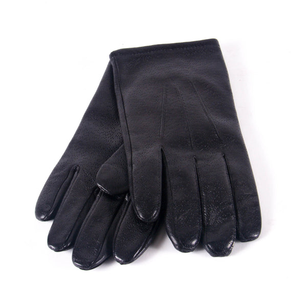 KIN Leather Wool Lined Gloves, Black