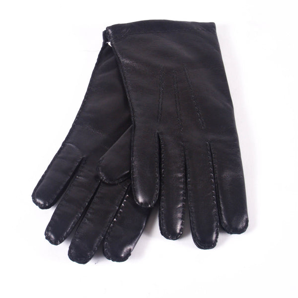 KIN Leather Cashmere Lined Gloves, Black
