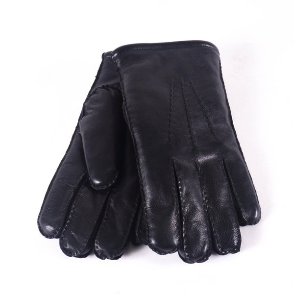 KIN Leather Lined Gloves, Black