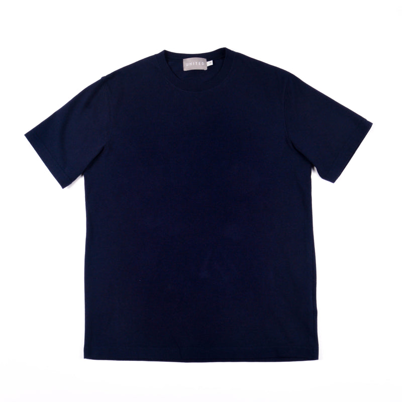 Classic Cotton Crewneck T-shirt, Midnight Navy