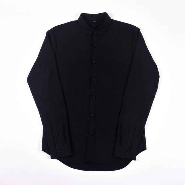 NIHL Button Down Shirt, Black Flannel
