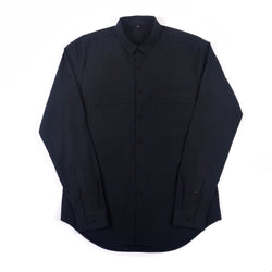 NIHL Button Down Shirt, Black Brushed Twill