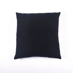 Cotton Linen Square Cushion Cover, Navy & Black Hopsack