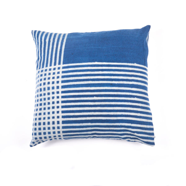 Indigo Cotton Square Cushion Cover