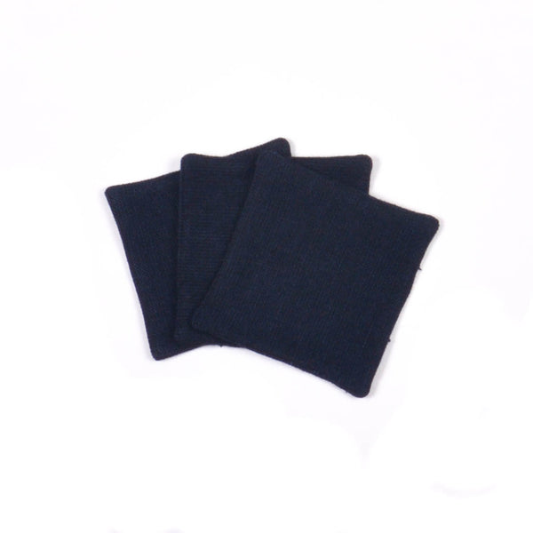 Sydney's Cotton Linen Square Coasters, Navy Hopsack (Set of 4)