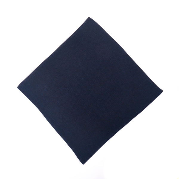 Sydney's Cotton Linen Square Dinner Napkins, Navy Hopsack