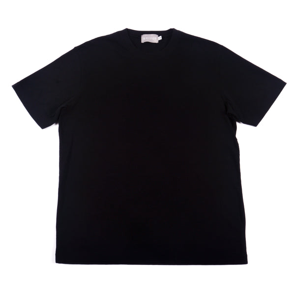 Black Classic Cotton Crewneck T-shirt