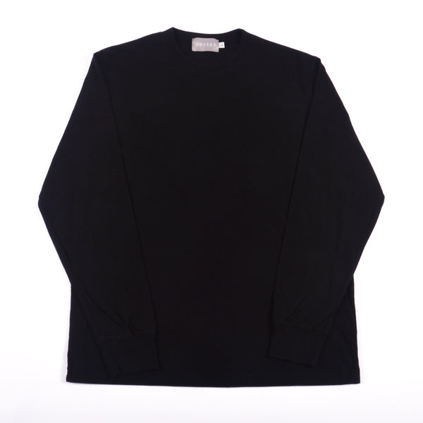 Black Classic Cotton Crewneck Long Sleeve T-Shirt
