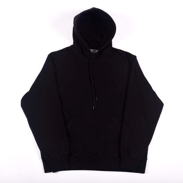 Black 16 oz Cotton Fleece Hooded Sweatshirt
