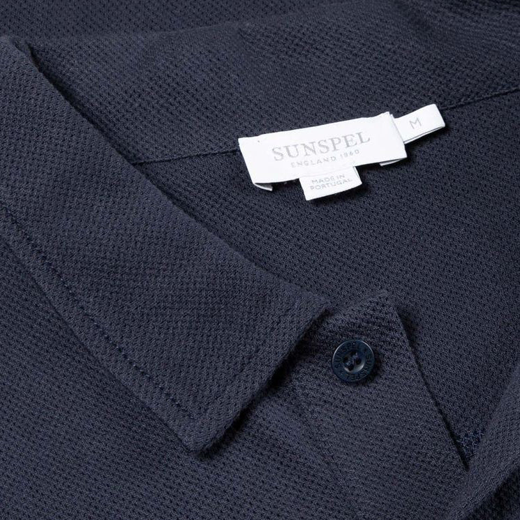 Navy S/S Riviera Polo - Sydney's, Toronto, Bespoke Suit, Made-to-Measure, Custom Suit,