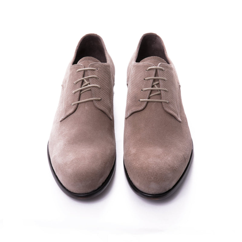 Stone Suede Derby Shoes - Sydney's, Toronto, Bespoke Suit, Made-to-Measure, Custom Suit,