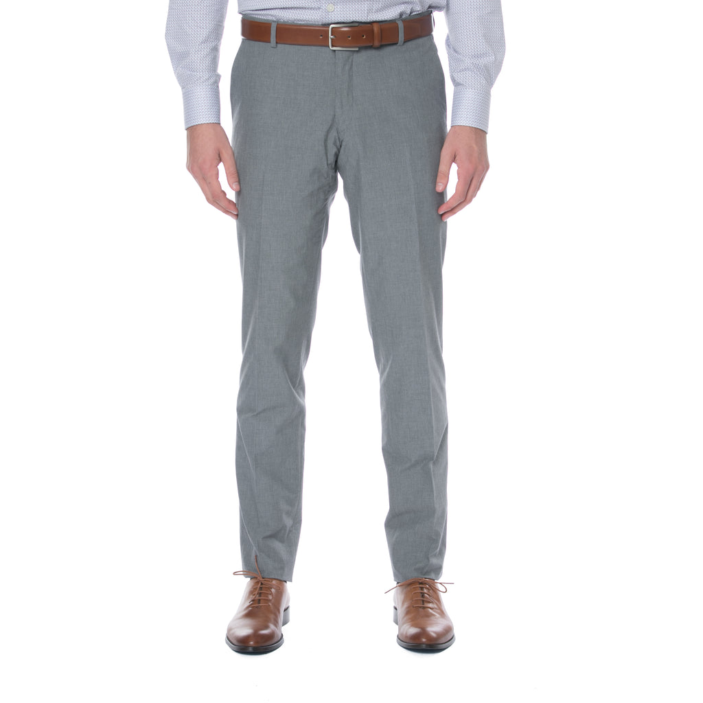 Light Grey Cotton Trouser - Sydney's, Toronto, Bespoke Suit, Made-to-Measure, Custom Suit,