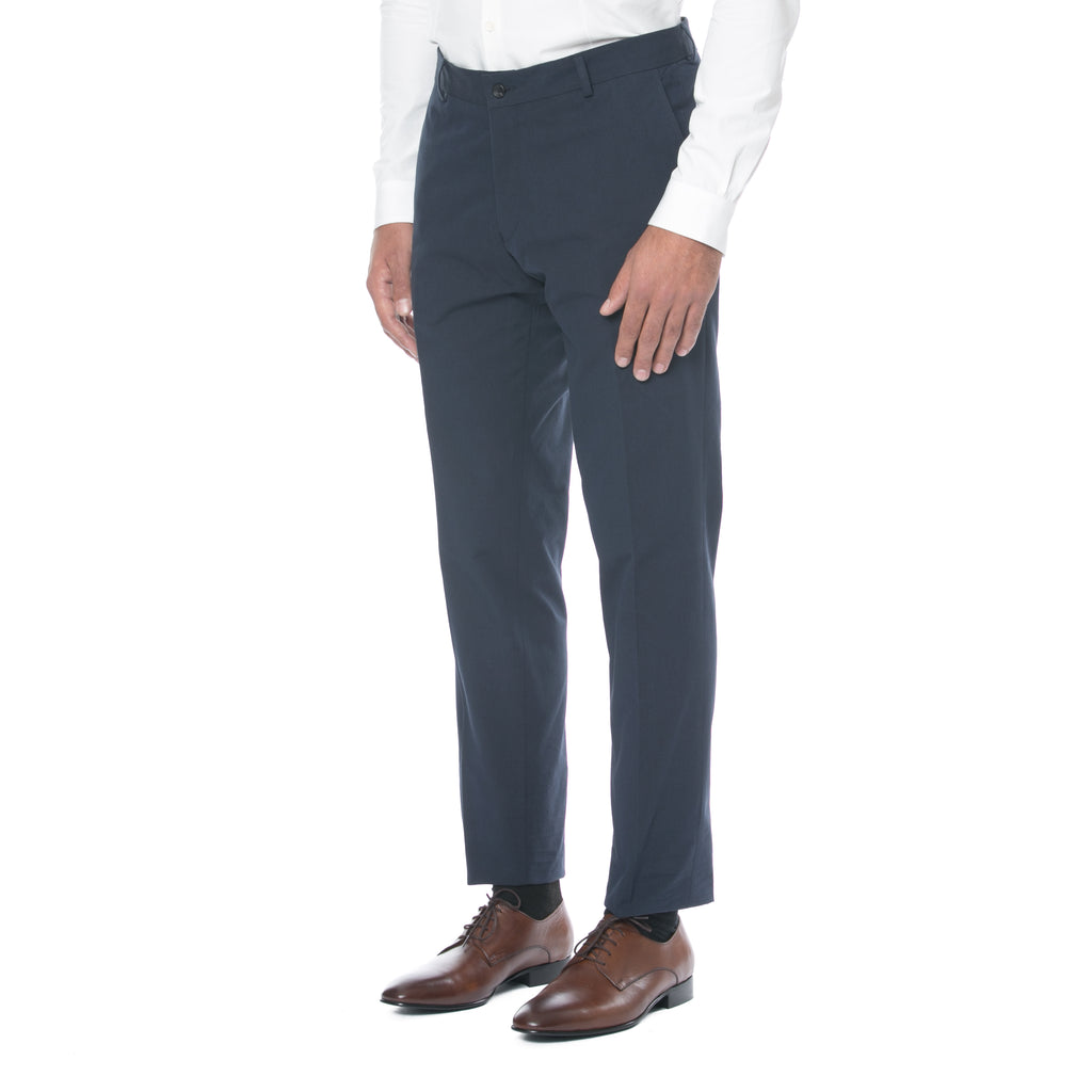 Ink Blue Cotton Trouser - Sydney's, Toronto, Bespoke Suit, Made-to-Measure, Custom Suit,